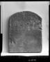 31270: limestone, paint stela or grave