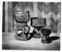 174402: wood [bowl] vessel on back of
