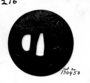 130950: Steel Tsuba sword guard of a