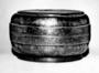 110019: pewter box, brass inlays