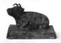 120237: Recumbent ox cast iron figure