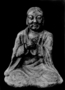 121755: marble statue of monk in