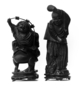 118351: bamboo root figure carvings of