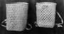 129435: carrying baskets rattan, hemp