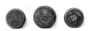 117683: Round iron incense box