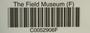 U.S.A. (South Dakota), C. M. Wetmore 10192 (Accession number: none)