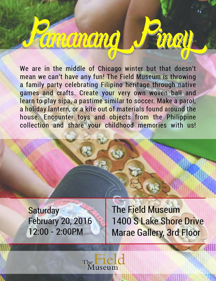 Event flier for Pamanang Pinoy: Games and Toys