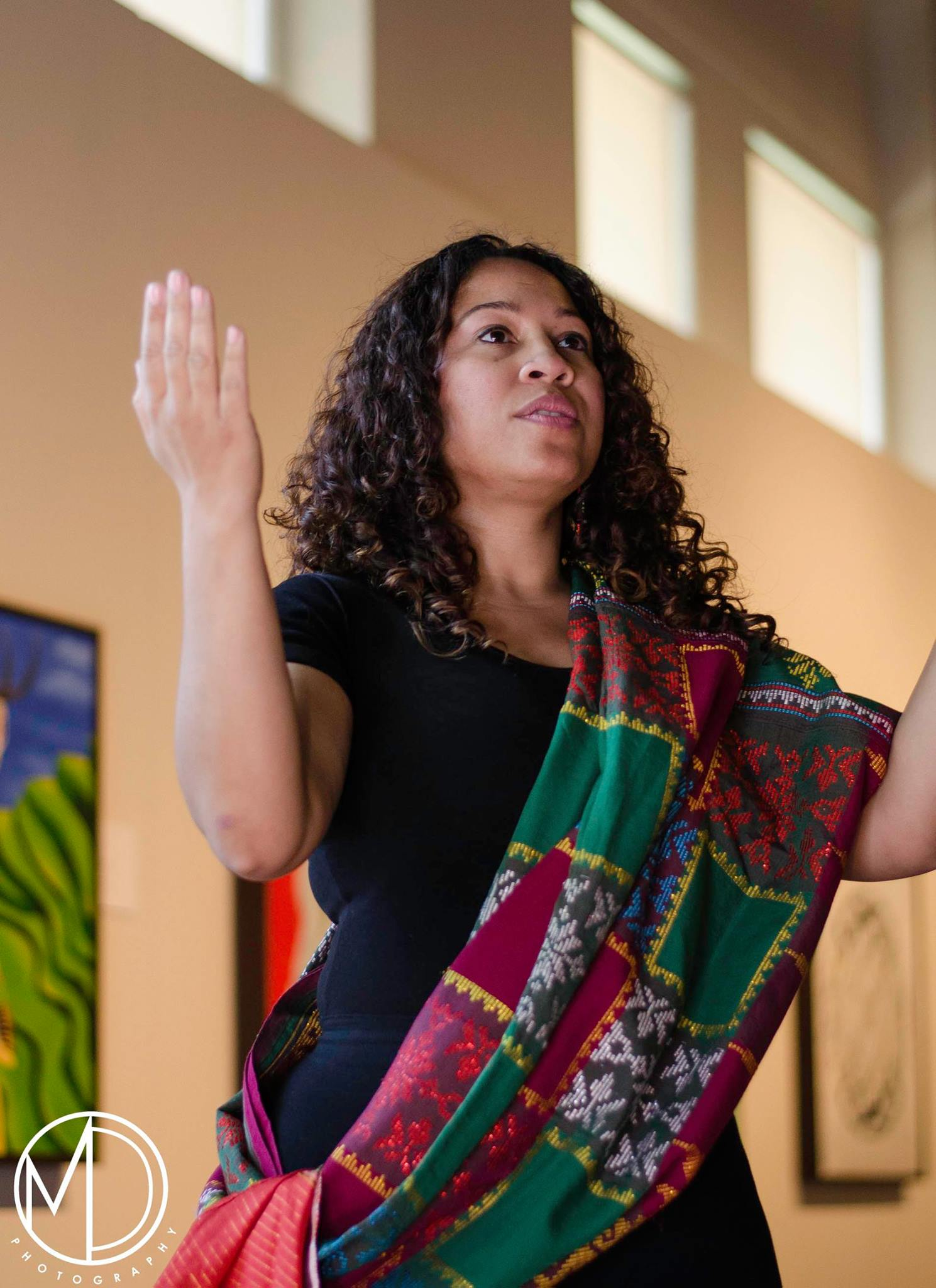 Co-host Jennifer Ligaya Senecal performing during the ceremony.