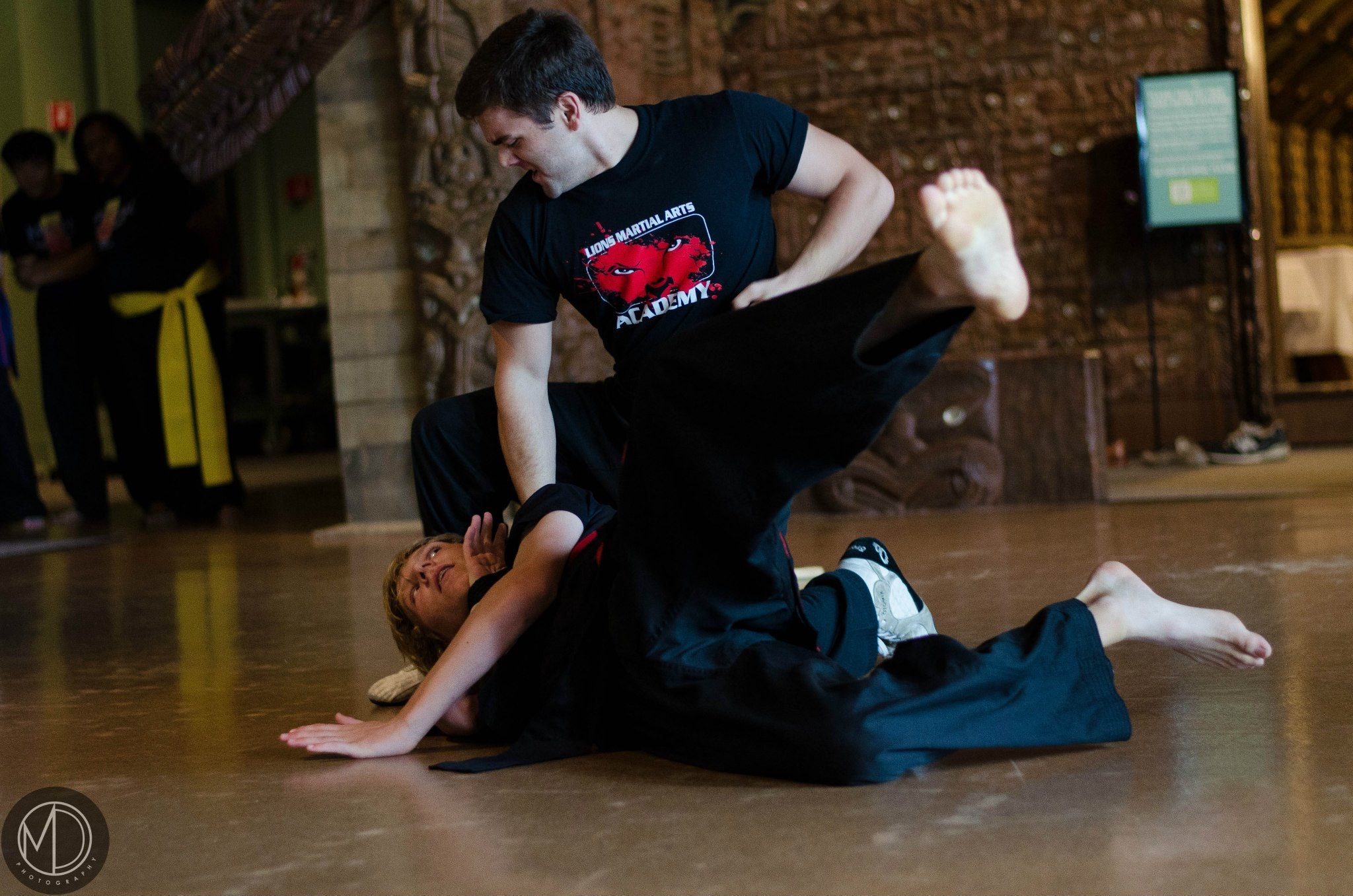 Members of Eskrima demonstrating techniques of this martial art.