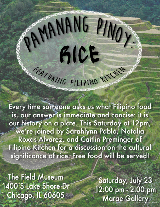 Event flier for Pamanang Pinoy: Rice.