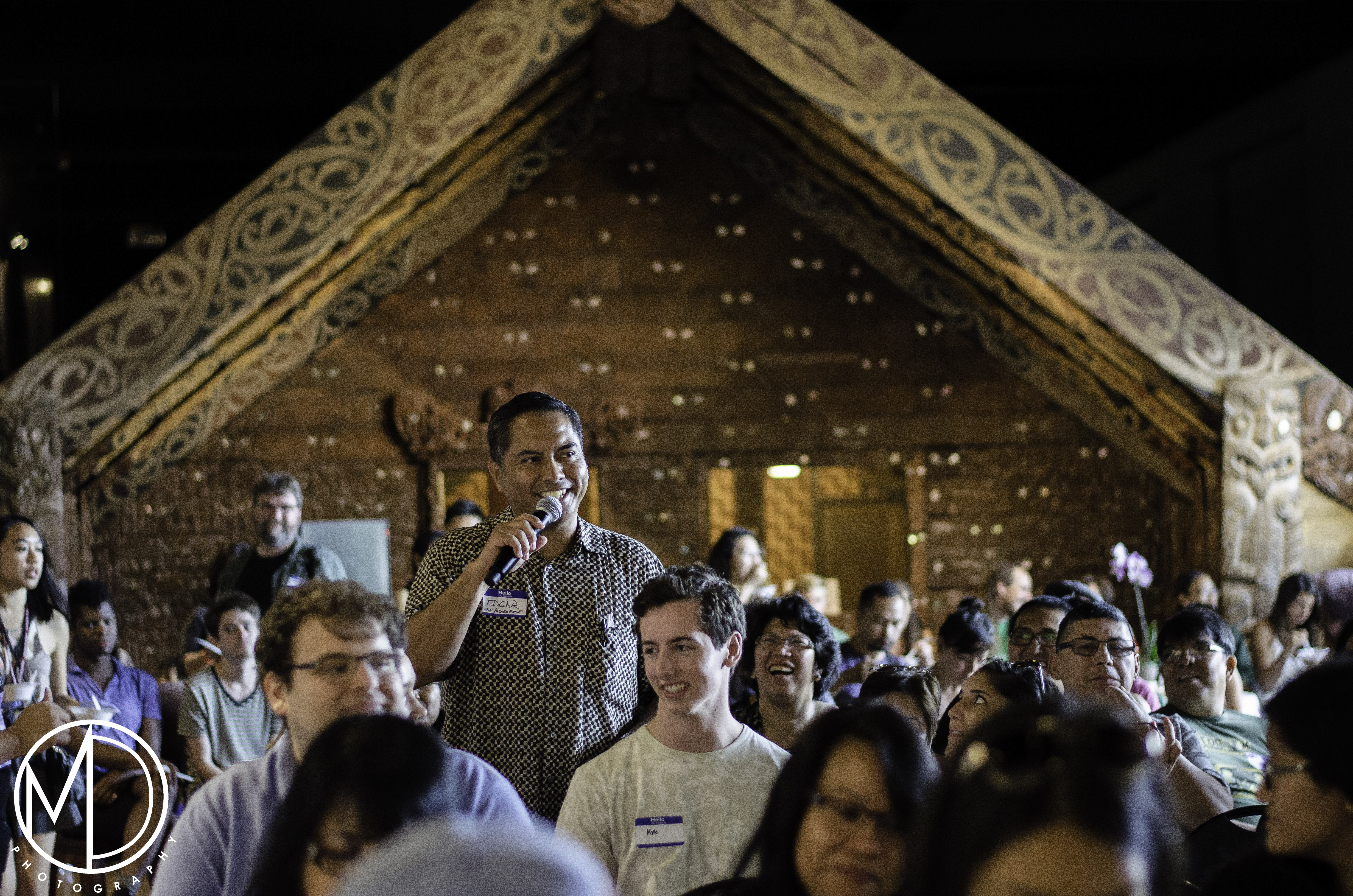 Edgar Jimenez asking a question to our presentors from Filipino Kitchen at the Pamanang Pinoy: Rice event. (c) Field Museum of Natural History - CC BY-NC
