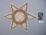 361094 obon, coconut palm leaf midrib wall ornament