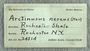 IMLS Silurian Reef Digitization Project, Image of label for a Silurian  trilobite, specimen UC 24314