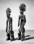 210144: Figurine, wood, metal figurine