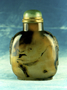 232313: snuff bottle agate, jade, brass