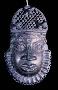 210344: ornamental mask bronze, iron