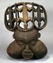 175595: wood headdress large helmet