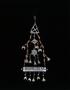 64170: Silver, coral pendant amulet cas