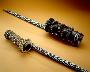 174977: pipe stem beads, copper, tin