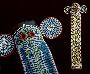 174137: Elephant mask, blue cotton