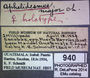 940 Aphelidesmus major HT IN labels