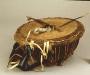 221390: wood, cane, rawhide, wax