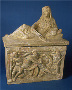 105229: Alabaster burial cinerary urn
