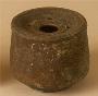 26880: terra cotta [ceramic] ink stand