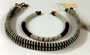 210583: necklace Glass, Plant Fiber