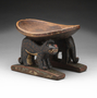 2832 polychrome wooden stool [seat]