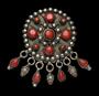209988: silver, stone ornaments