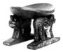 2832 polychrome wood seat