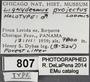 807 Lignydesmus projectus HT IN labels