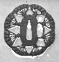 131276: Fan Steel Tsuba [guard] for a
