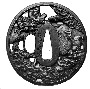 131263: Iron Tsuba sword guard of a
