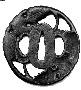 131271: Iron Tsuba sword guard for