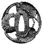131273: Iron Tsuba sword guard for
