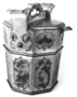 110477: teapot in wooden bucket form