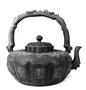 110007: Age darkened pewter tea kettle