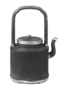 131983: Pewter teapot with overhead