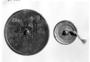 117118: Sian metal mirror